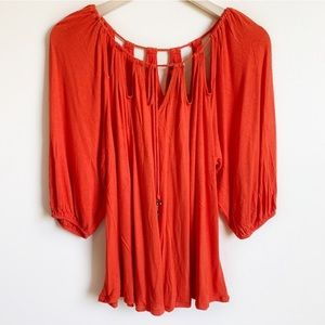 Anthropologie Top Strung Symmetry Cut Out Size M